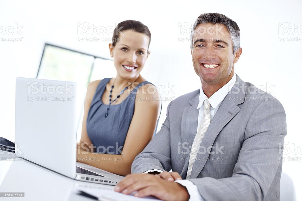 Good attitudes ensure they're a cut above the rest royalty-free stock photo