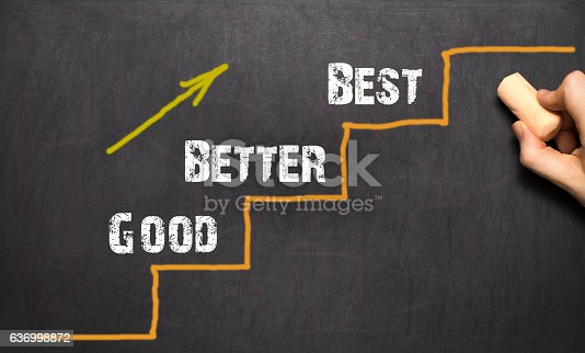 istock Good - Better - Best. Black bacground 636998872