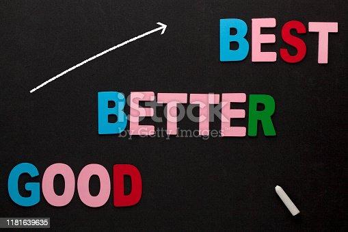 istock Good Better Best Concept 1181639635