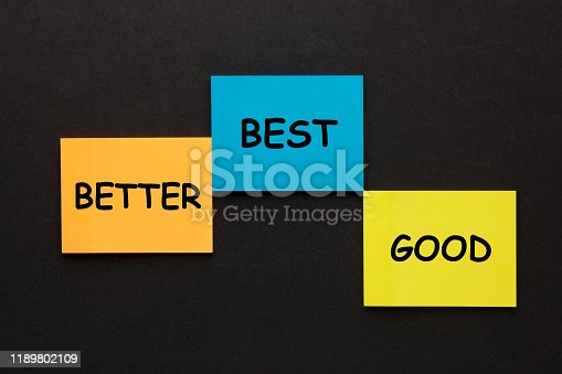 636998872 istock photo Good Better Best 1189802109