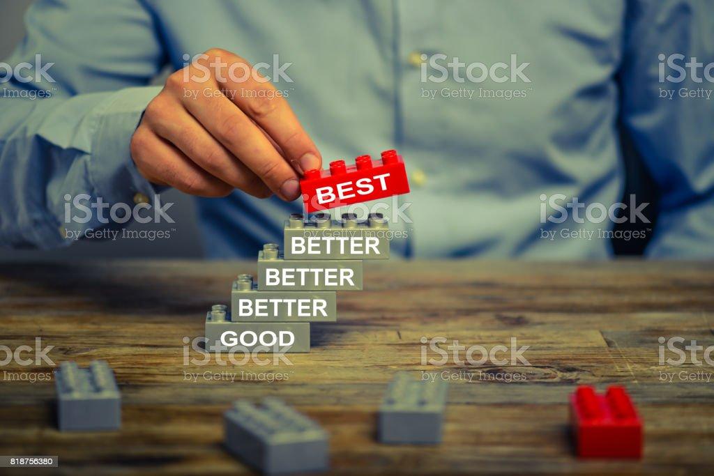 Gut - besser - am besten. - Lizenzfrei Aufführung Stock-Foto