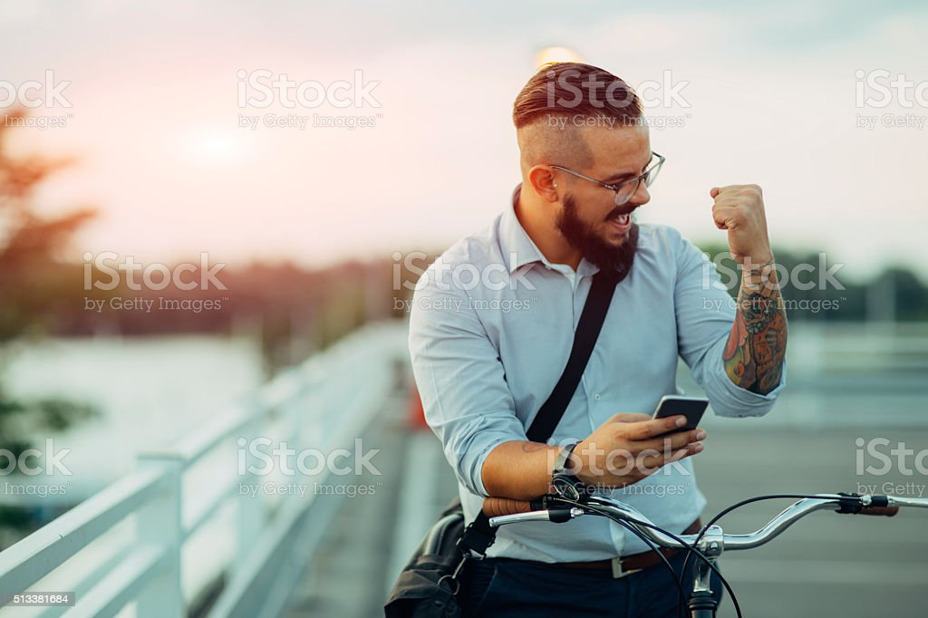 Good Business News! stock photo