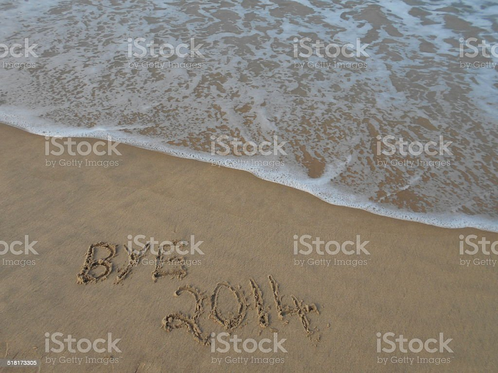 Good Bye 2014 stock photo