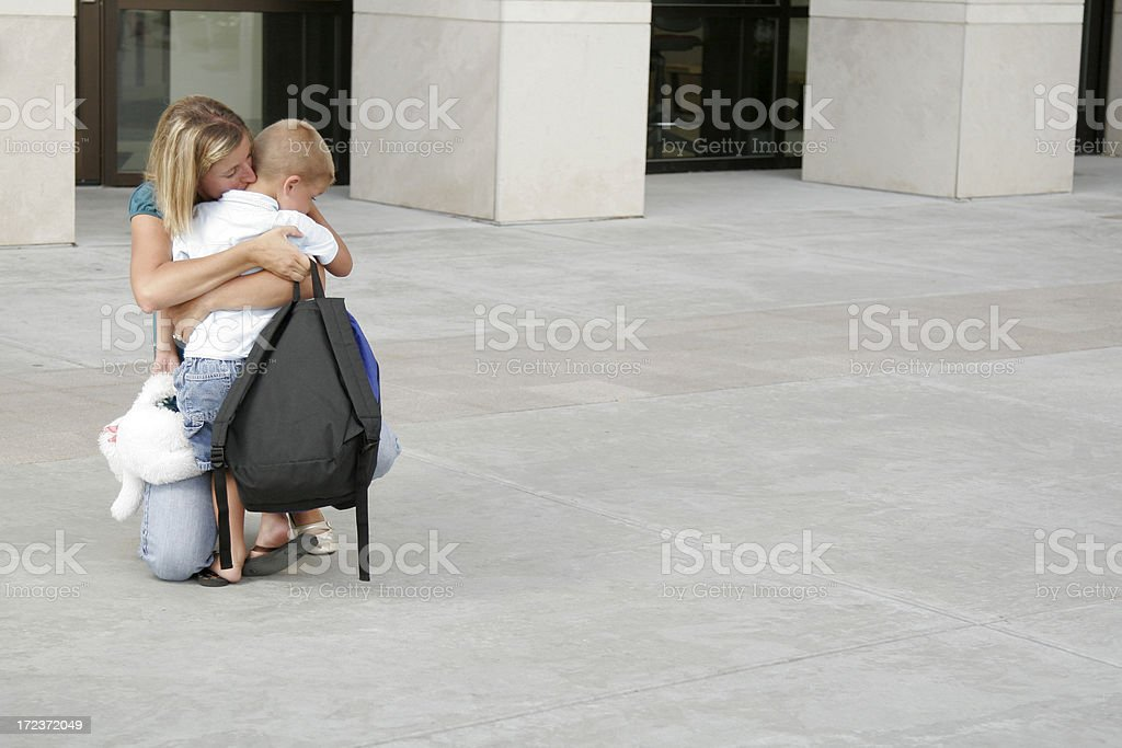 Good Bye Hug royalty-free stock photo