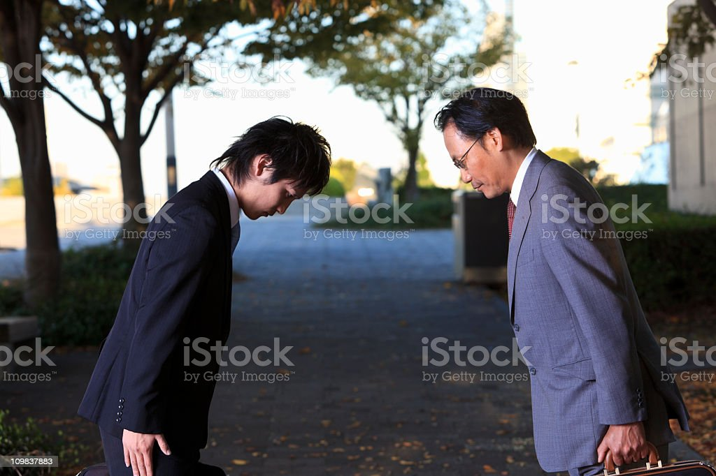 Good bye - Japanese style royalty-free stock photo