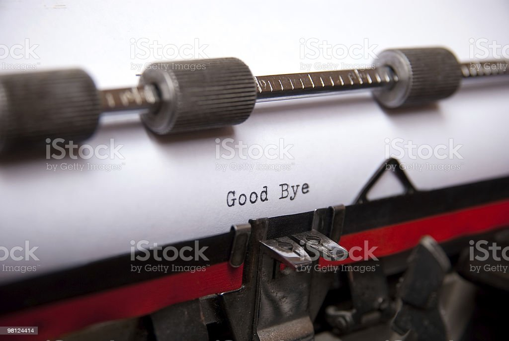 good bye royalty-free stock photo
