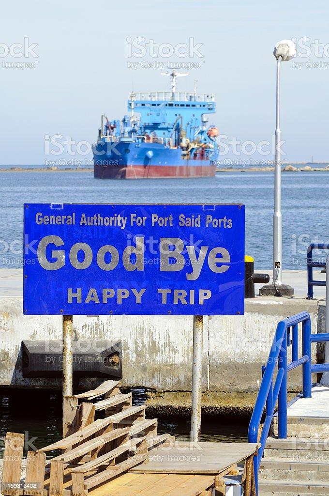 Good Bye Port Said stock photo