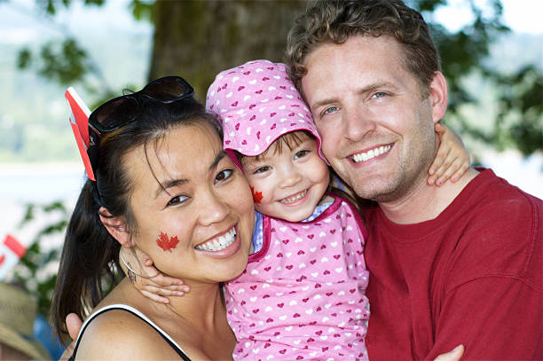 good canadian family there - canada day stock pictures, royalty-free photos & images