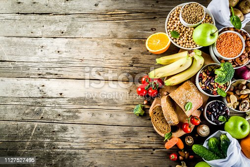 istock Good carbohydrate fiber rich food 1127527495