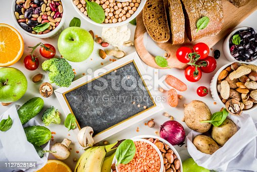istock Good carbohydrate fiber rich food 1127528184