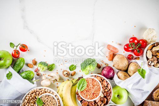 istock Good carbohydrate fiber rich food 1127528728
