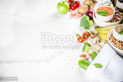 istock Good carbohydrate fiber rich food 1127528729