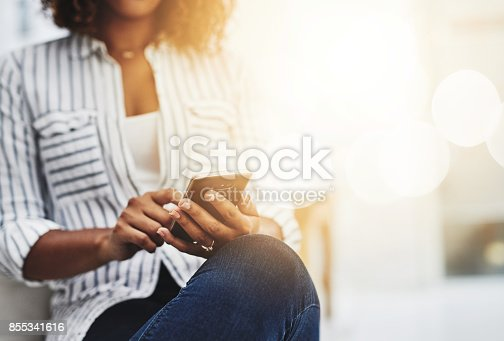 istock Good company is just a call away 855341616