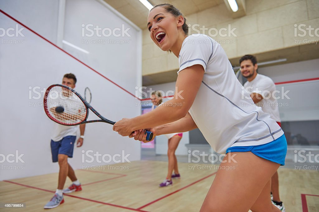 Good cooperation is very important during the game stock photo