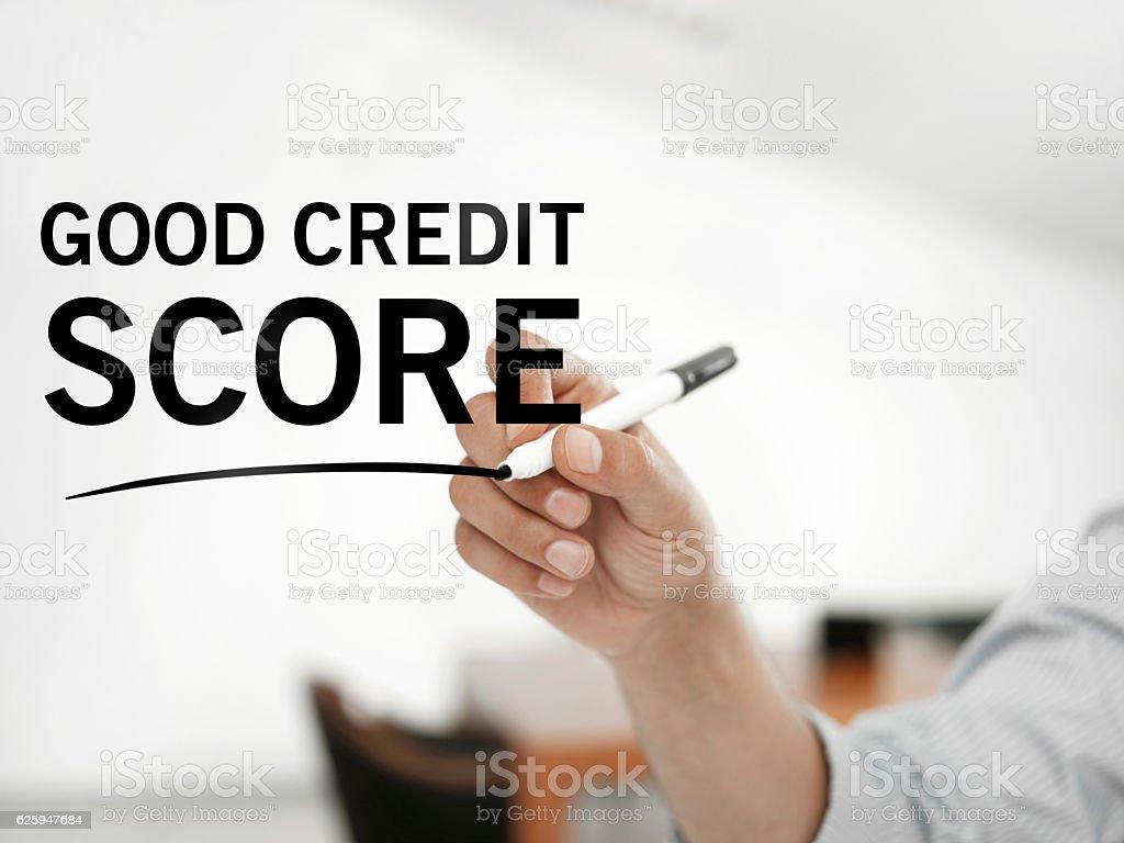 Good credit score stock photo
