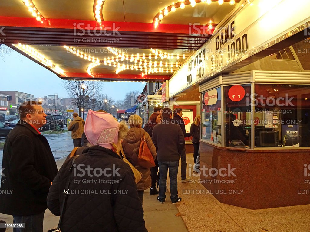 Good Day for the Movies stock photo