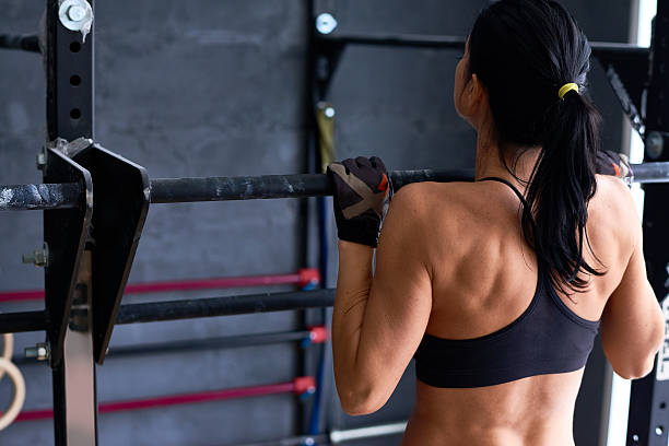 good day for training - horizontal bar stock photos and pictures