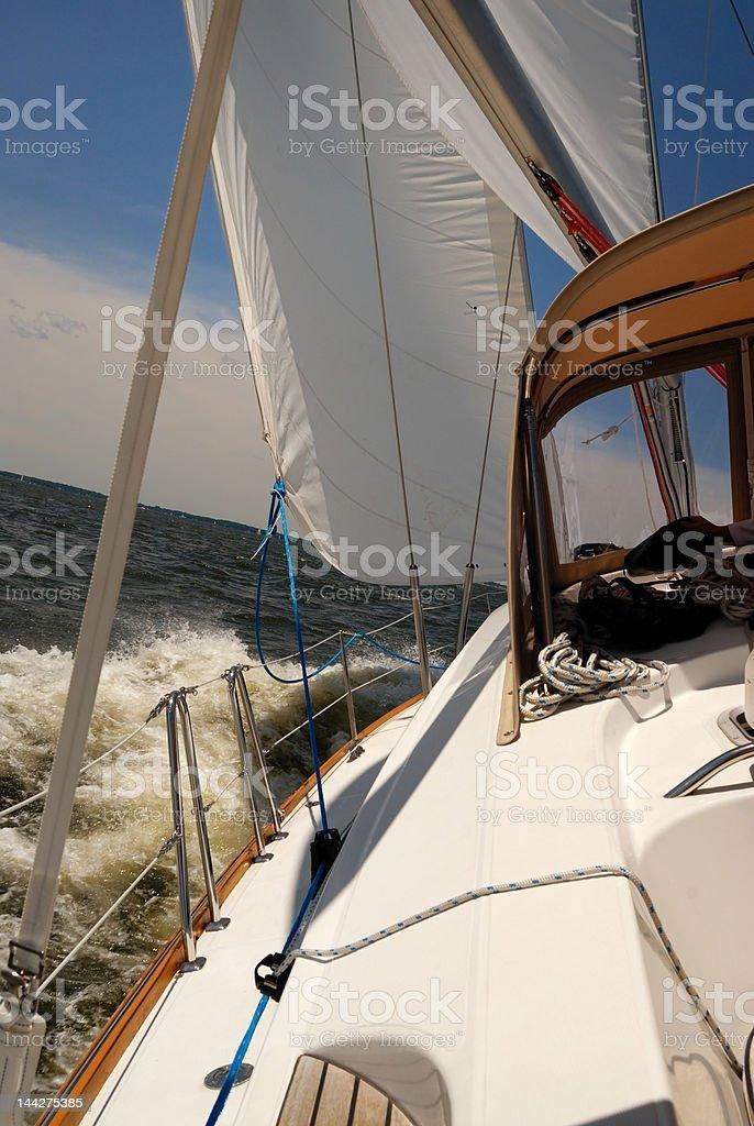 Good day of sailing royalty-free stock photo