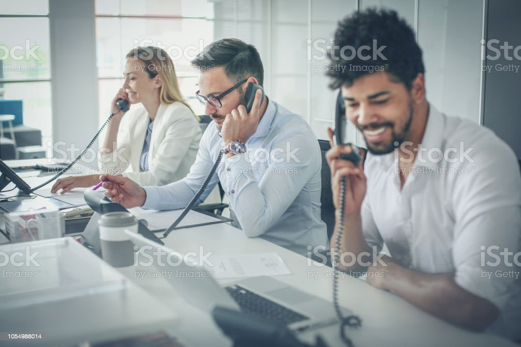 Good day we are at the service. stock photo