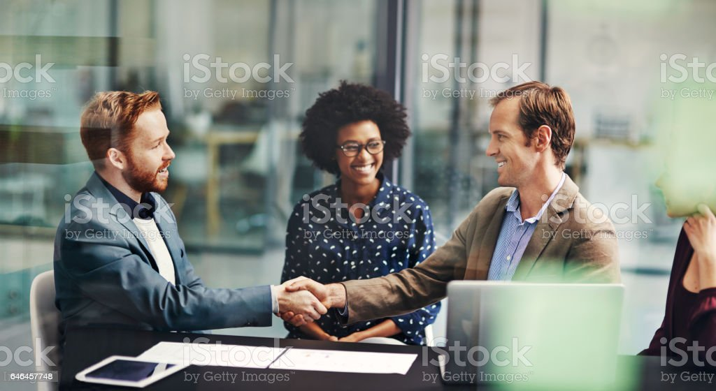 Good deals make for good business stock photo