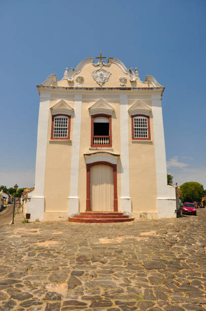 Good Death church in Unesco's world heritage site city of Goiás Good Death church in Unesco's world heritage site city of Goiás goiás city stock pictures, royalty-free photos & images