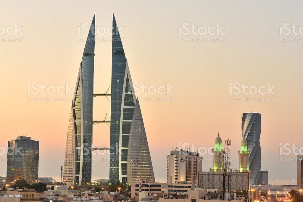 Good evening Manama stock photo