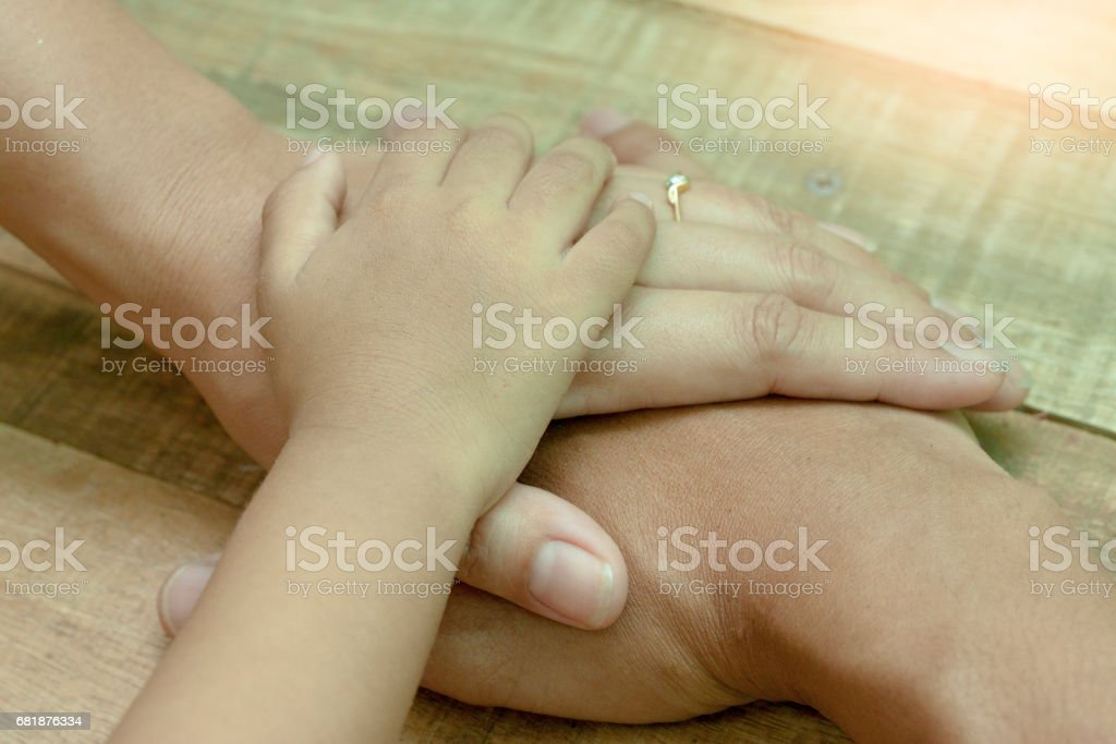 Good family in Thailand. stock photo