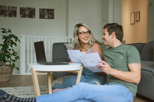 Good financial standing, good marriage stock photo