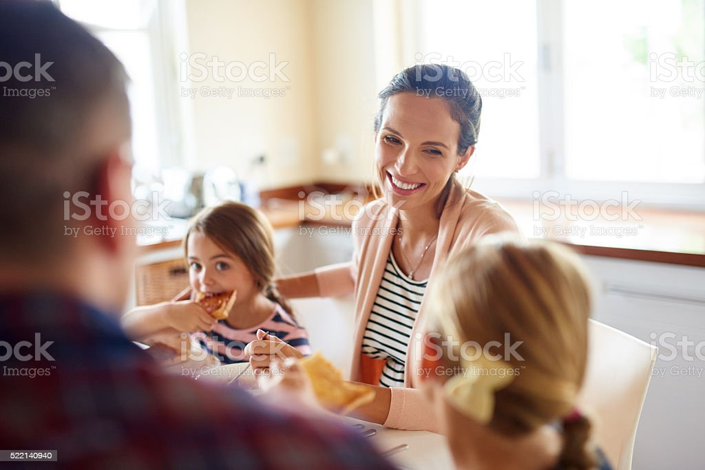 Good food, good family, good life stock photo
