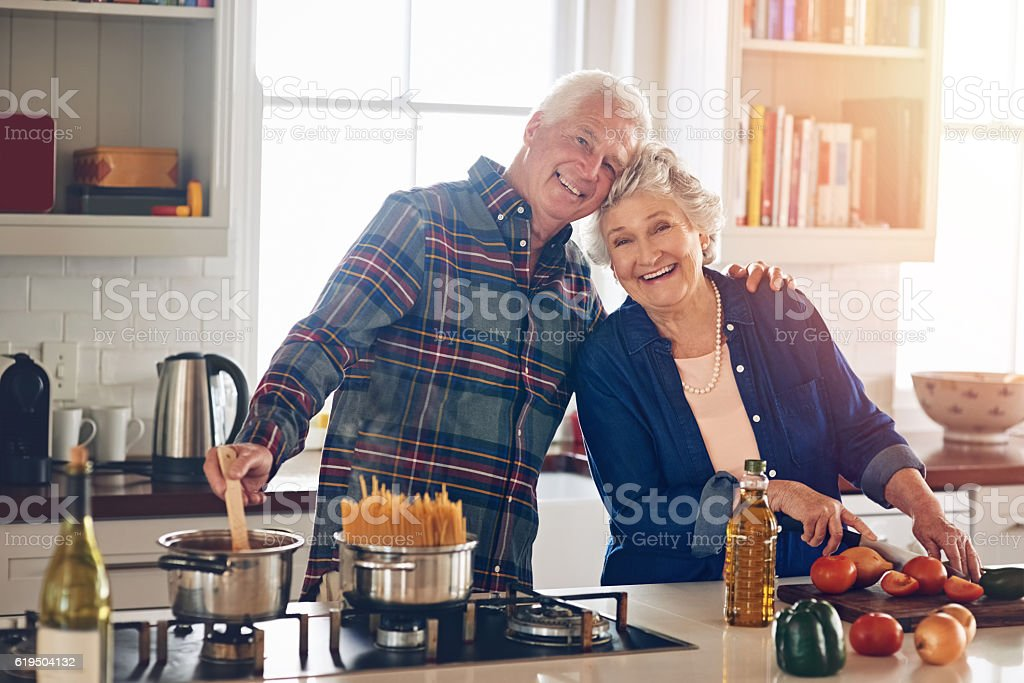 Good food too put them in a great mood stock photo