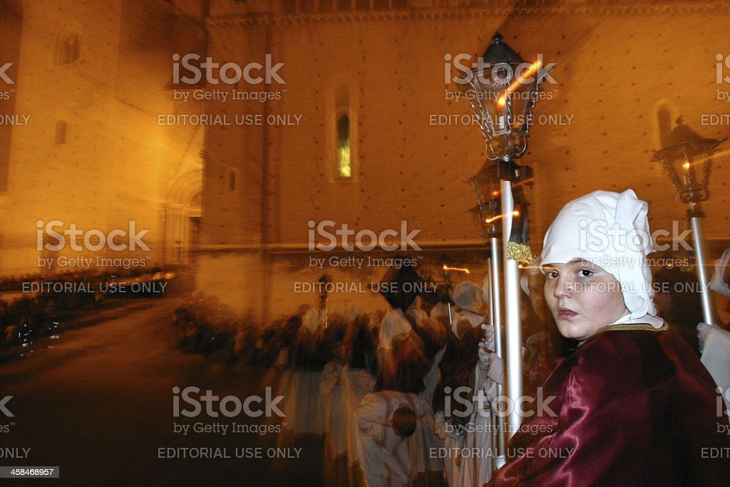 Good Friday Procession at Chieti stock photo