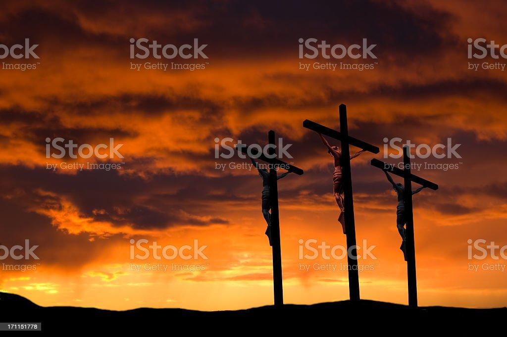 Good Friday  ... Three Crosses stock photo