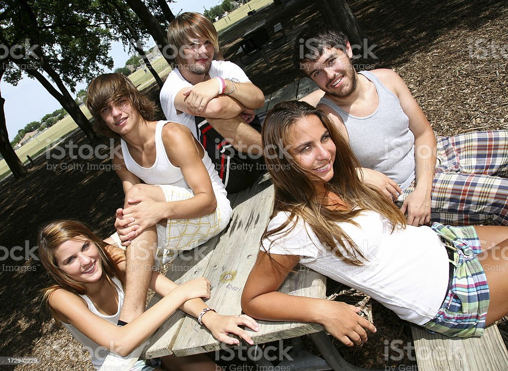 Good friends at the Park royalty-free stock photo
