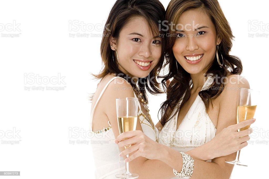 Good Friends Celebrate royalty-free stock photo