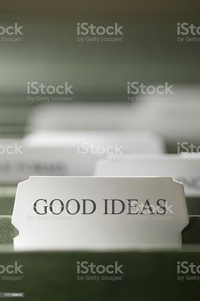 Good Ideas File royalty-free stock photo
