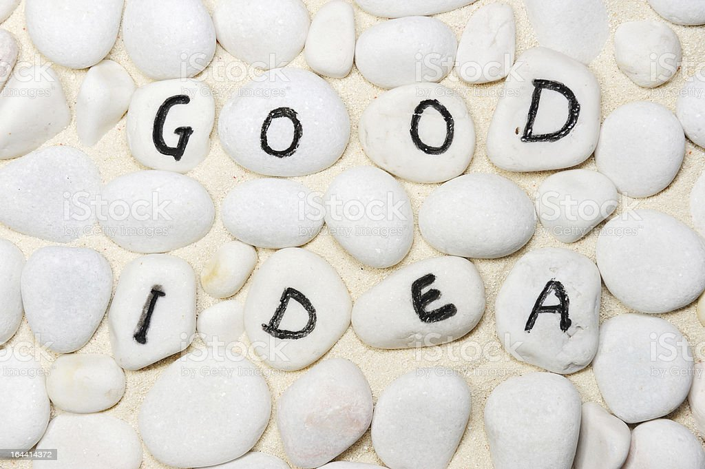 Good ideas words royalty-free stock photo