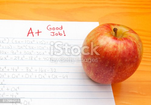 istock Good Job and A+ on Homework 512984015
