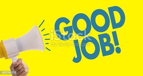 815703312 istock photo Good Job 832254112