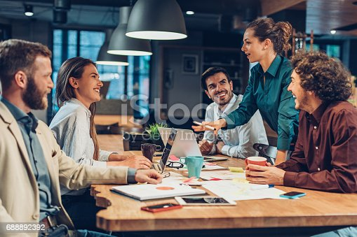 istock Good leadership and teamwork lead to success 688892392