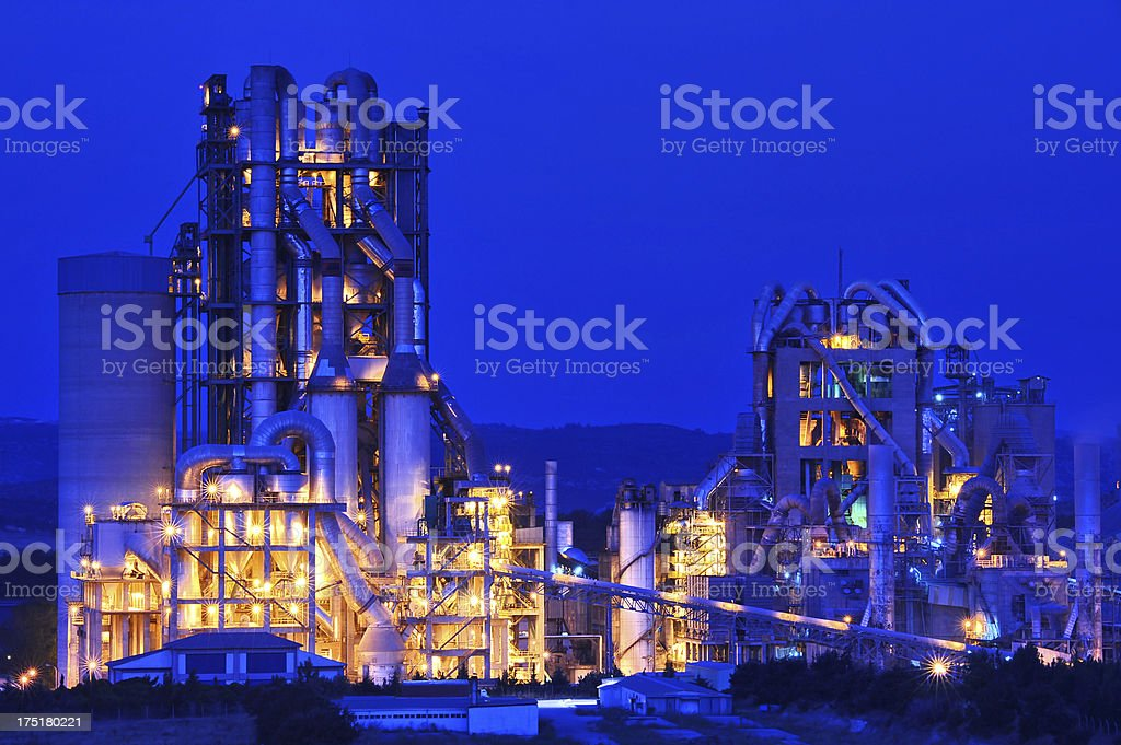 good lighting of heavy industrial factory stock photo