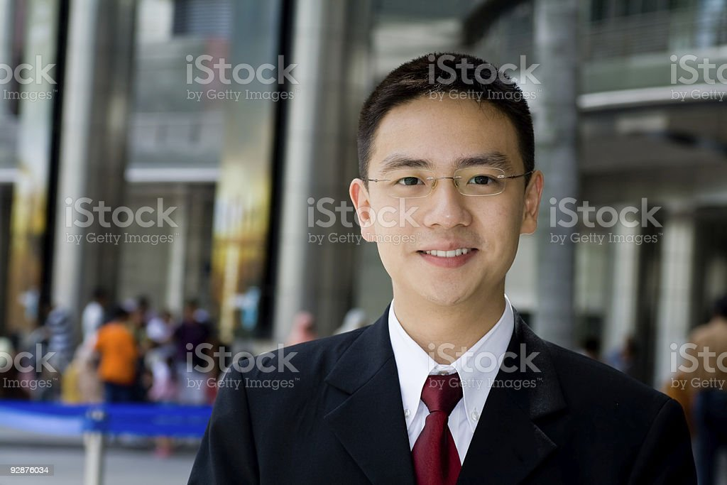 Good looking asian business man royalty-free stock photo