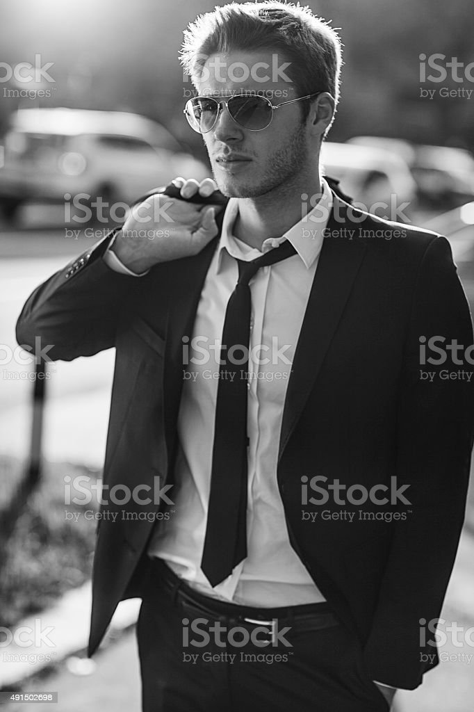 good looking businessman stock photo