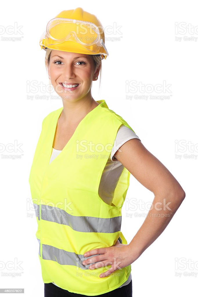 Good looking construction worker stock photo