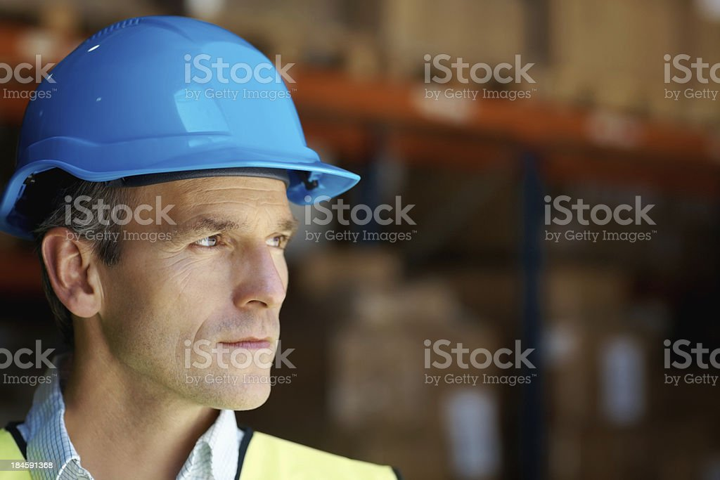 Good looking engineer royalty-free stock photo