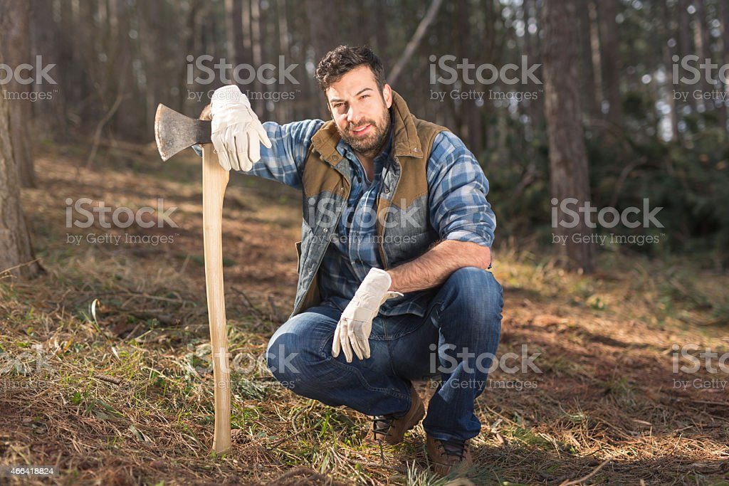 Good looking forester stock photo