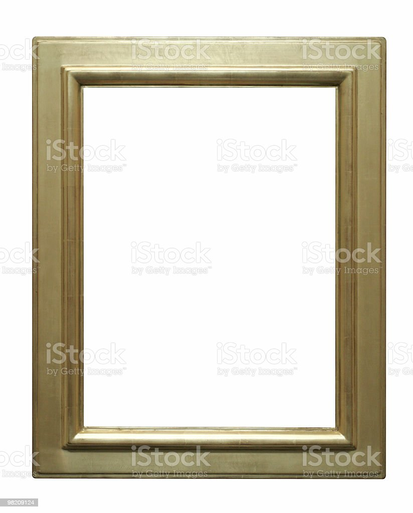 Good looking gold frame to use in your design royalty-free stock photo