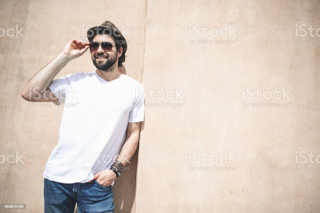 Good looking man enjoying warm day outside - Royalty-free Adult Stock Photo