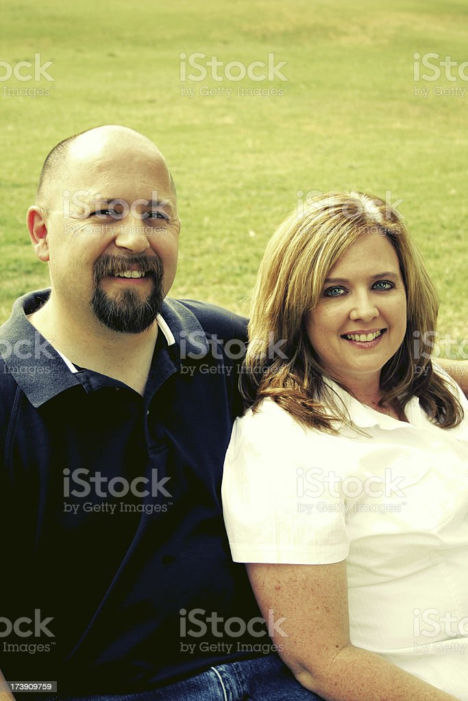 Good Looking Mature Couple stock photo
