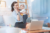 istock Good looking pleasant woman talking on the phone 938598484