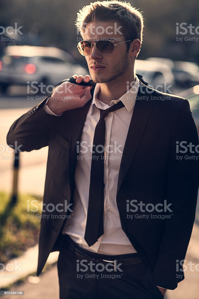 good looking stylish man stock photo